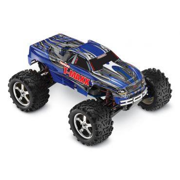 1/10 T-Maxx 3.3 4WD w/ 2.4GHz, TSM, TRX Engine; Blue