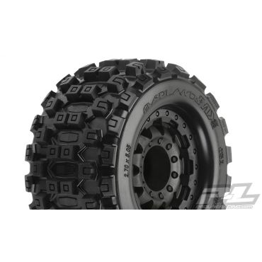 """Pro-Line Badlands MX28 2.8"""" All Terrain Tires Mounted on F-11 Bl"""