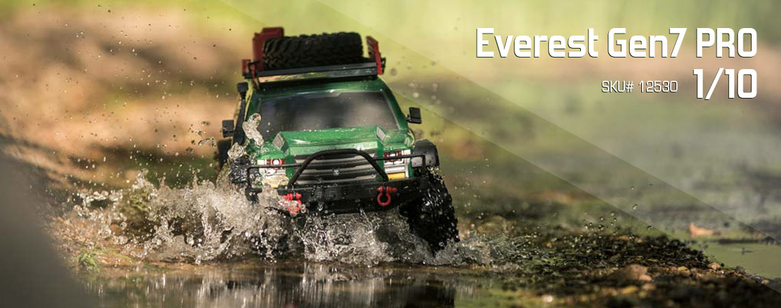 Everest Gen7 PRO 1/10 Truck Green